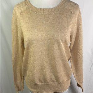 J. Crew   Metallic Crewneck Lightweight Sweater
